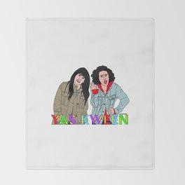 Yas Kween - Broad City - Abbi & Ilana Throw Blanket