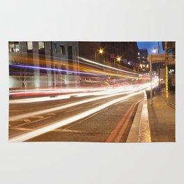 Edinburgh West End light trails Rug