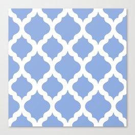 Blue rombs Canvas Print
