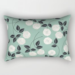 Pattern with white roses Rectangular Pillow