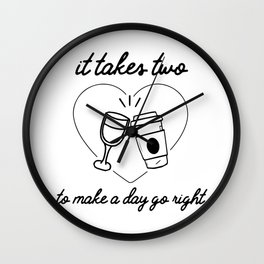 It takes two Wall Clock