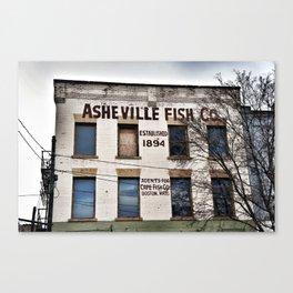 Asheville Fish Co. Canvas Print