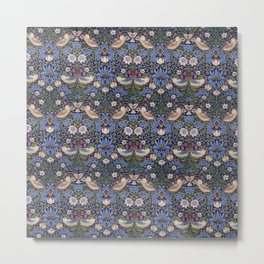 William Morris Strawberry Thief Pattern Metal Print