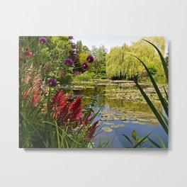 Summer Water Garden Metal Print