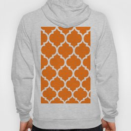 MOROCCAN ORANGE AND WHITE PATTERN Hoody