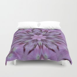 Floral Abstract Of Pink Hydrangea Flowers Duvet Cover