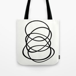 Come Together - Black and white, minimalistic, abstract, art print Tote Bag
