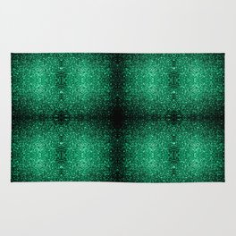 Beautiful Emerald Green glitter sparkles Rug