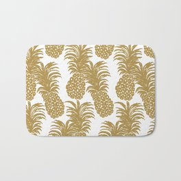 Gold Pineapples Bath Mat