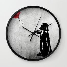 Little Vader - Inspired by Banksy Wall Clock