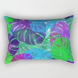 monstera leaves tropical Rectangular Pillow