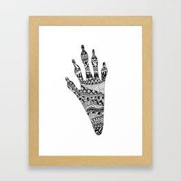 raccoon track Framed Art Print