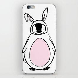 Penguin in a bunnysuit iPhone Skin