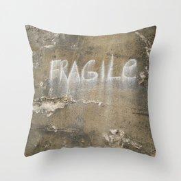 Fragile city Throw Pillow