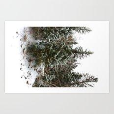 French Alps Trees Art Print