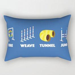 Tire Weave Tunnel Jump - Blank Rectangular Pillow