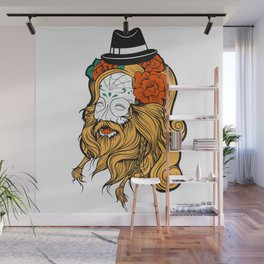 Bearded Women Girl Wall Mural