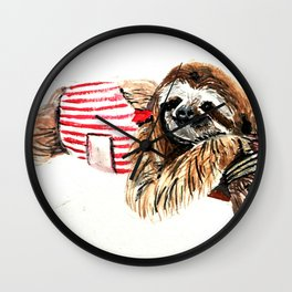 Sassy Sloth Wall Clock