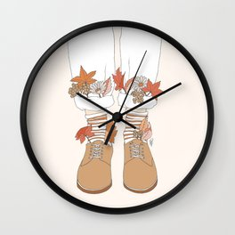 Autumn Walks Wall Clock