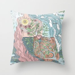 The Two Sides of You Throw Pillow