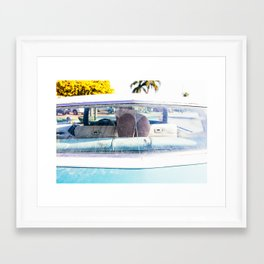 In The Cadillac Framed Art Print