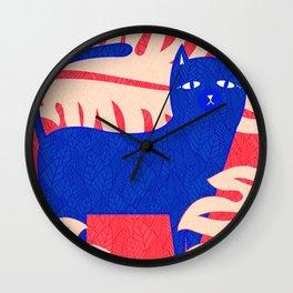 Cat Foliage 02 Wall Clock