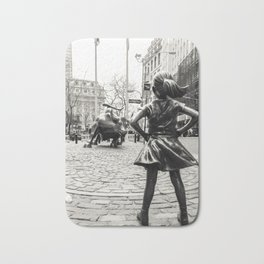 Fearless Girl & Bull - NYC Bath Mat