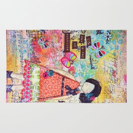 'She was a Ray of Sunshine' by Jolene Ejmont Rug