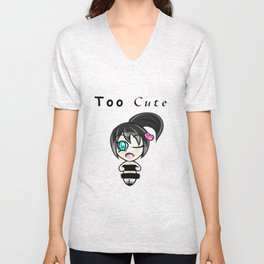 Too Cute Unisex V-Neck