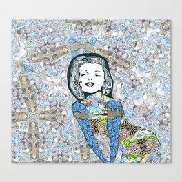 Psychedelic Marilyn Monroe  Canvas Print