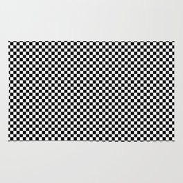 Simple checkerboard background Rug