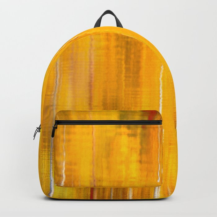 Autumn colors reflecting on the lake surface #decor #buyart #society6 Backpack
