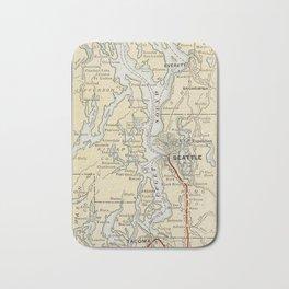 Vintage Map of The Puget Sound (1909) Bath Mat