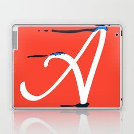 Dripping letter A Laptop & iPad Skin