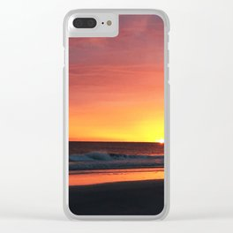 Florida Sunset Clear iPhone Case