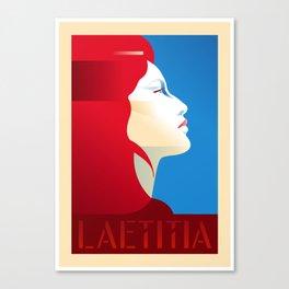Laetitia Portrait Poster Canvas Print