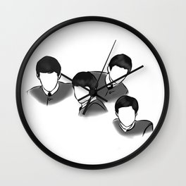 The Fab Four Rock Icon Silhouettes Wall Clock