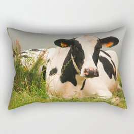 Holstein cow facing camera Rectangular Pillow