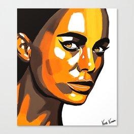 Orange Face Canvas Print