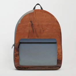 Moonsetting at Sunrise in the Badlands Backpack