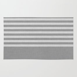 Gray color block and stripes Rug