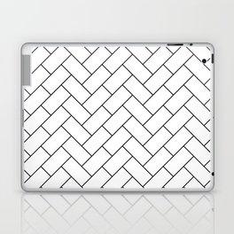 Traditional Herringbone - Black Laptop & iPad Skin