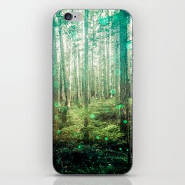Magical Green Forest - Nature Photography iPhone Skin
