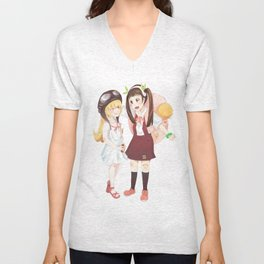Hachikuji and Shinobu Unisex V-Neck