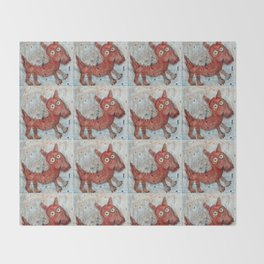 Scotty - Abstract playful fun dog Throw Blanket