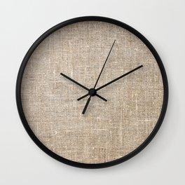 Len Sack Fabric Texture Wall Clock