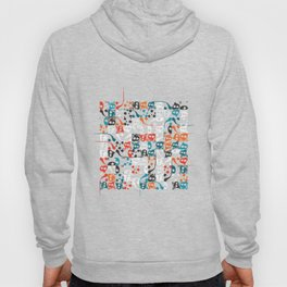 Contemporary Persian Calligraphy - Composition with letter Vave, Mim & Hea Hoody