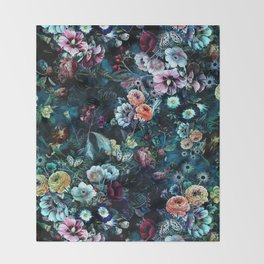 Night Garden Throw Blanket
