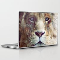 apple Laptop & iPad Skins featuring Lion // Majesty by Amy Hamilton