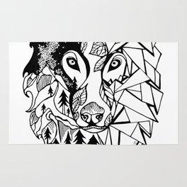 Prism Wolf Rug